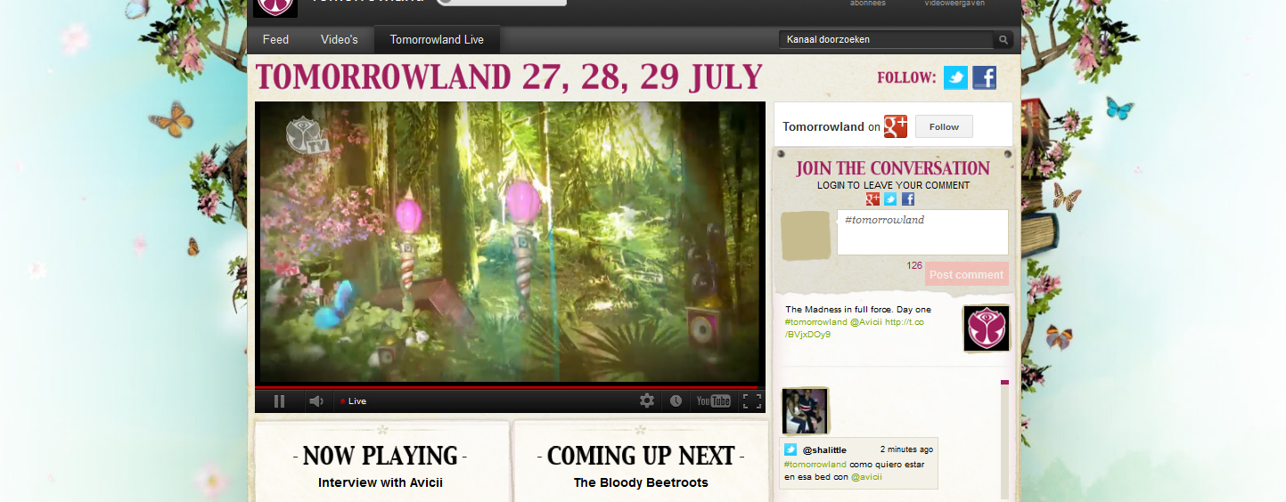 Tomorrowland Live Streaming op Youtube