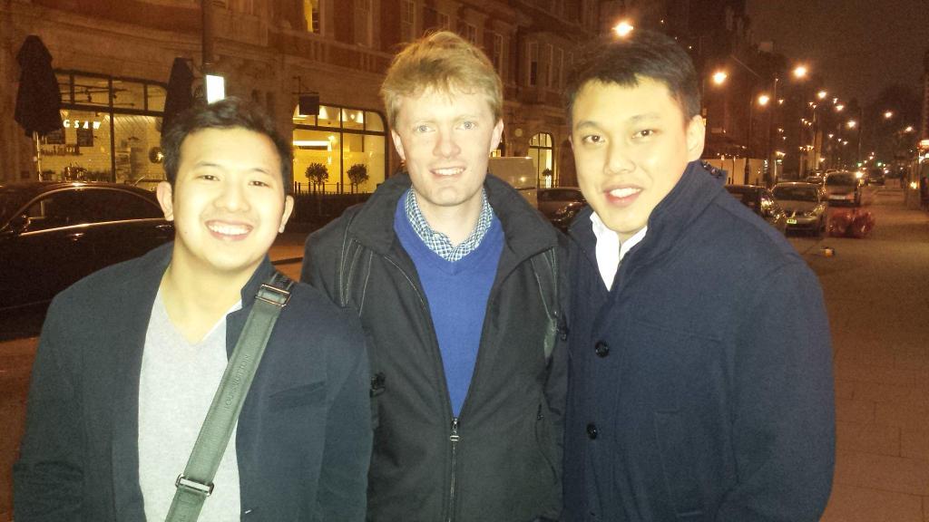 Met Charles Ngo en Benjamin Young in Londen voor Affcelerator